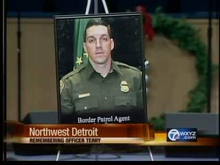 Funeral for border agent.