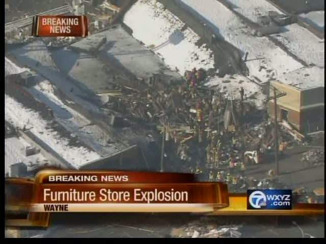Two killed two injured in blast that leveled Wayne furniture
