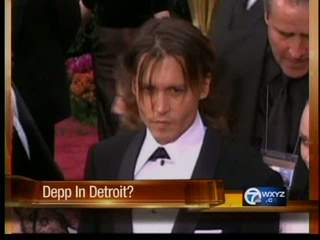 Johnny Depp to film movie in Detroit?