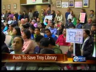 Push to save the Troy Library