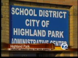Highland Park schools facing Emergency Manager