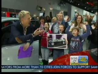 Sam Champion at #NAIAS on GMA with #EarlyRisers