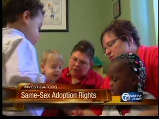 Same-sex couple fights to change adoption laws so their kids have same ...