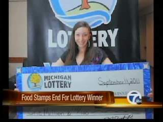 Lottery winner's food stamps cut off