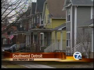 Mayor announces $200 lot sale in Detroit