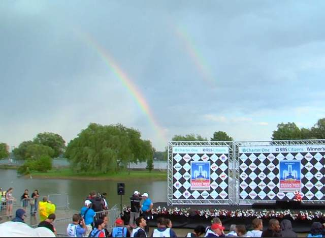 Double rainbow at Detroit Grand Prix