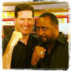 Tom Leyden and Thomas Hearns