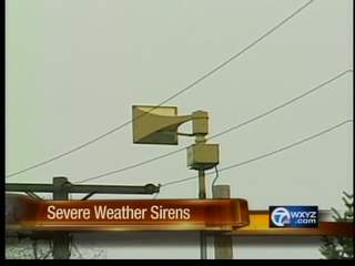 Severe weather sirens