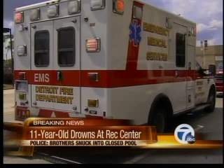 11-Year-Old boy drowns at rec center pool in Detroit