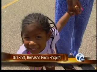 Girl shot, released from hospital