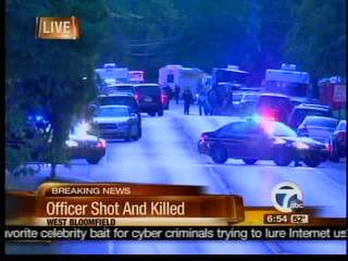 Officer shot and killed