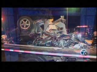 Driver survives Warren crash, car cut in half