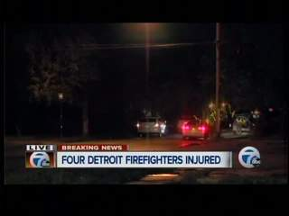 4 Detroit firefighters injured in house explosion