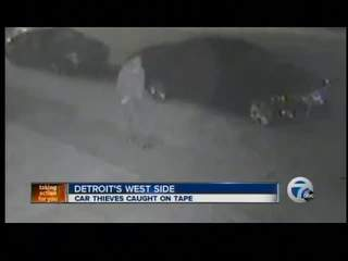 Car thieves caught on tape