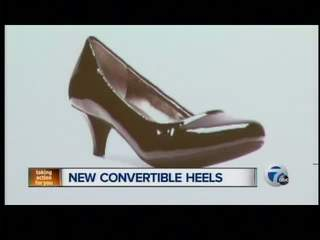 Convertible high heel shoes