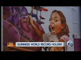8-year-old drummer lands in record books