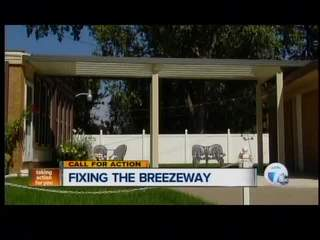 Action team helps woman get breezeway fixed