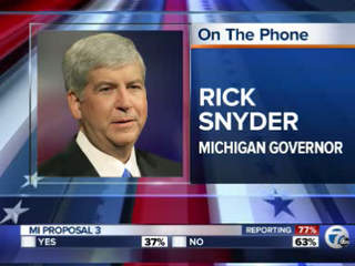 Governor Snyder Phone Interview 7 Action News at 6 am
