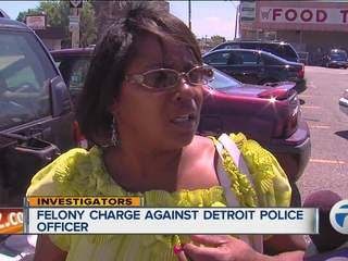 Felony charge against Detroit police officer