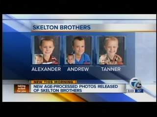 Age Progression Photos Generated of Skelton Boys