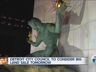 Detroit City Council considers big land sale Tuesday