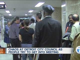 Chaos outside City Council meeting