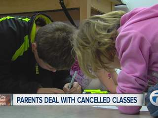 Parents deal with cancelled classes
