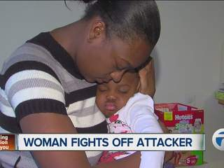 Woman fights off attacker