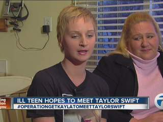 Teen's wish to meet Taylor Swift