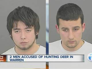 2 men accused of hunting deer in Warren