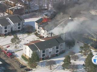 Large apartment fire in Ypsilanti