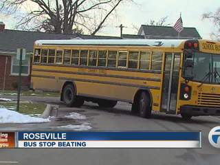 Bus stop beating in Roseville