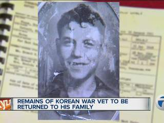 Remains of Korean War vet to be returned to his family