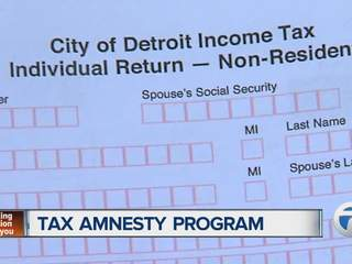 Detroit tax amnesty program