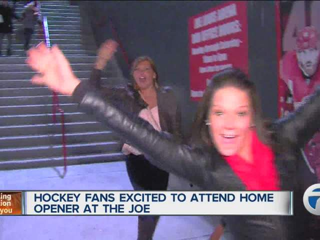 Hockey fans excited to attend home opener at the Joe Louis Arena