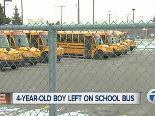 Four-year-old left on the bus