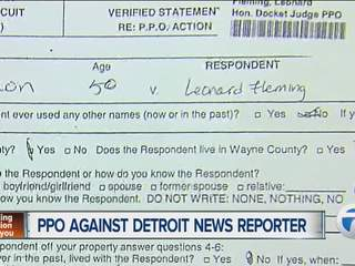 PPO against Detroit News reporter