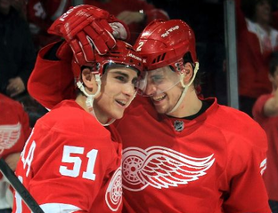 Valtteri Filppula and Brendan Smith