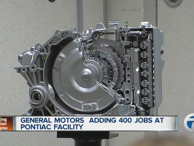 General Motors Expanding Pontiac Facility Move Expected To Create 400 Jobs