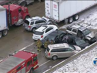 Massive deadly pileup on I-75 in southwest Detroit