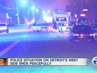 Police situation on Detroit's west side ends peacefully