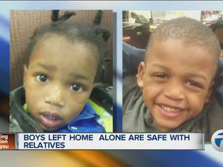 Boys left home alone are safe with relative