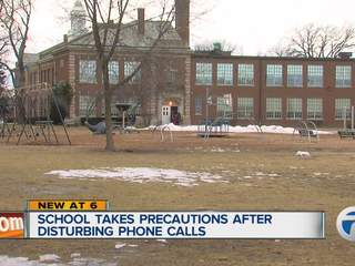 School takes precautions after disturbing phone calls