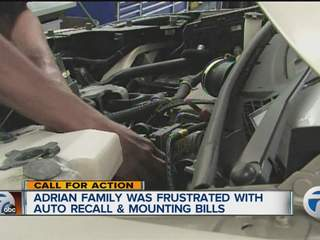 adrian family frustrated with auto recall mounting bills turns to