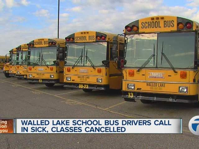 Walled Lake Consolidated Schools closed after bus drivers call in ...