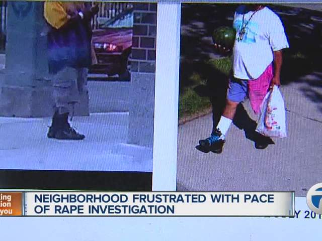 Neighborhood frustrated with pace of rape investigation