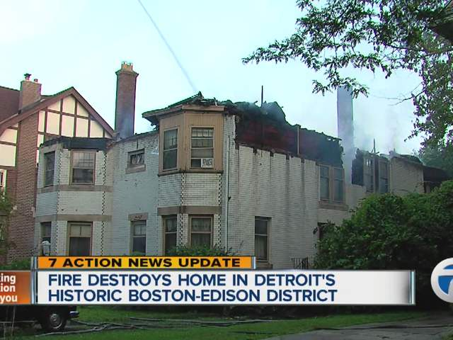 firefighters battle fire at boston edison home residents