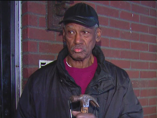 Elderly man attacks intruder with hammer to head