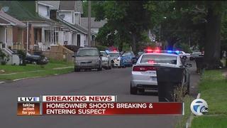 Homeowner tells police he shot intruder