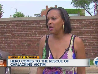 Hero comes to rescue of carjacking victim